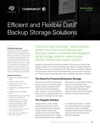 Efficient and Flexible Data Backup Storage Solutions with Seagate