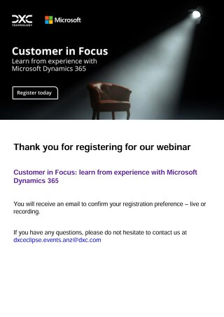 Customer in Focus: learn from experience with Microsoft Dynamics 365