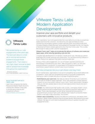 VMware Tanzu Labs Modern Application Development