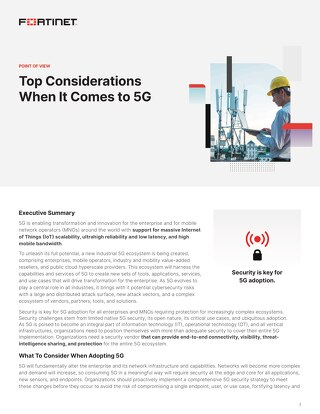 Top Considerations When It Comes to 5G