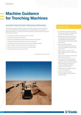 Machine Guidance for Trenching Machines Datasheet - English