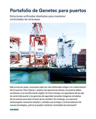 Portafolio de Genetec para puertos