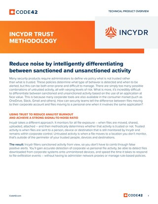 Incydr Trust Methodology