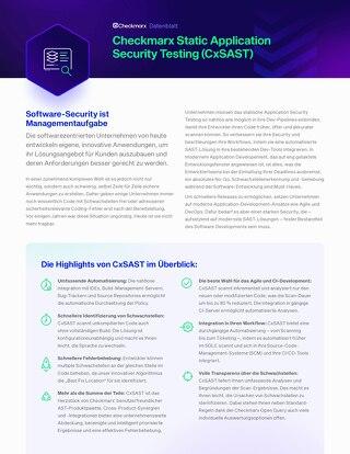 CxSAST German Datasheet 2021