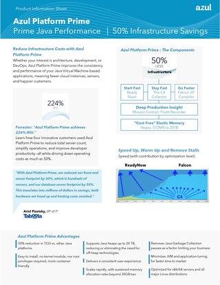 Azul Platform Prime Information Sheet