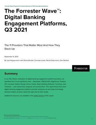 The Forrester Wave Digital Banking Engagement Platforms Q3 2021