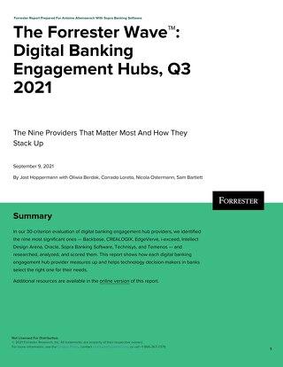 The Forrester Wave Digital Banking Engagement Hubs Q3 2021