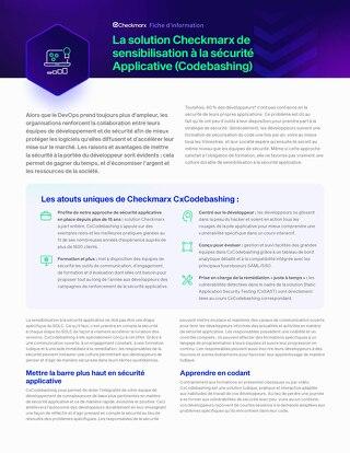 Codebashing French Datasheet 2021