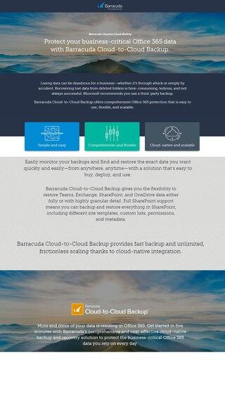 Barracuda Cloud-to-Cloud Backup