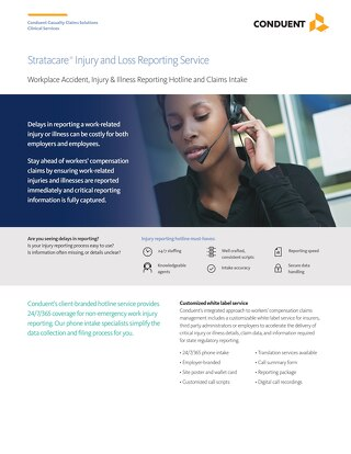 Stratacare®  Injury and Loss Reporting Service