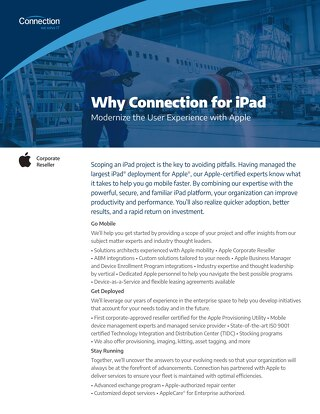 Why Connection for iPad