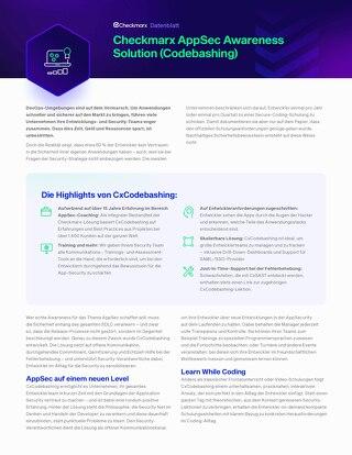 Codebashing German Datasheet 2021