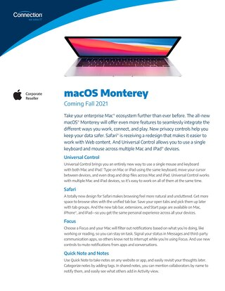 macOS Monterey - Coming Fall 2021