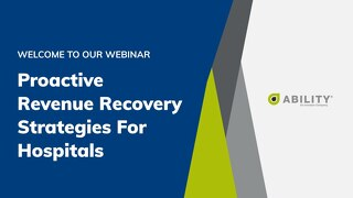 Proactive Revenue Recovery Strategies for Hospitals_Becker's Session