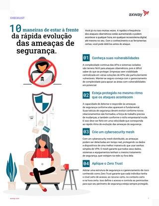 10 maneiras de estar à frente da rápida evolução das ameaças de segurança.