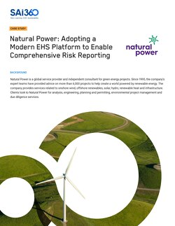 Read the full case study about how Natural Power takes advantage of SAI360 EHS