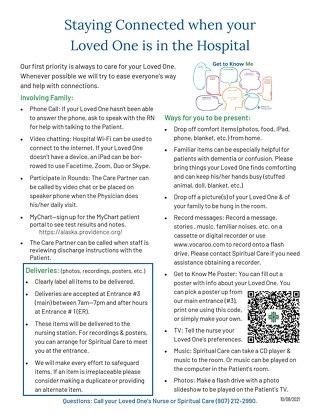 Patient Connections - Patient-Family Handout Sept-2021