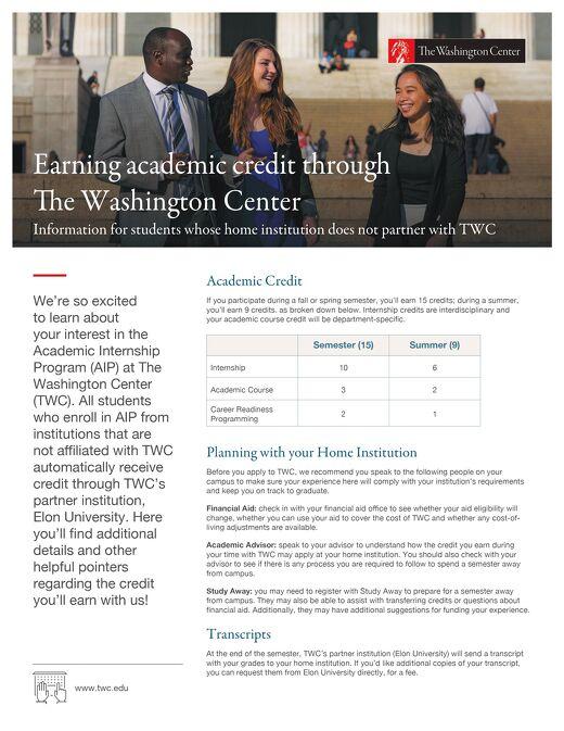 Earn Credit at TWC | The Washington Center