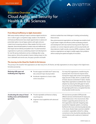 Cloud Agility and Security for Health & Life Sciences - Executive Overview