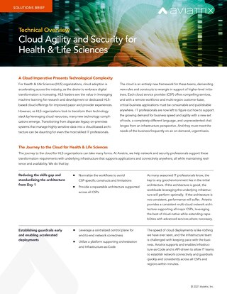 Cloud Agility and Security for Health & Life Sciences - Technical Overview