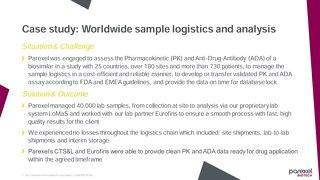 Sample logistics Case study