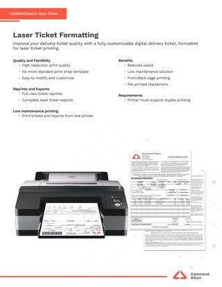 COMMANDbatch Laser Ticketing Spec