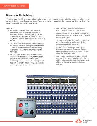 COMMANDbatch Remote Batching Spec
