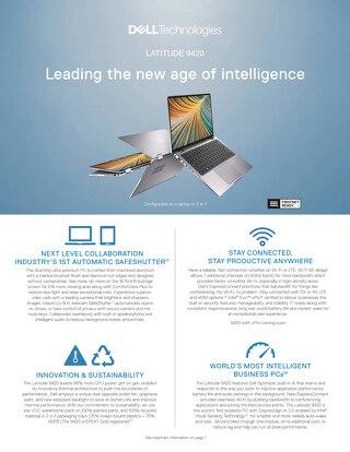 Latitude 9420 Leading the New Age of Intelligence