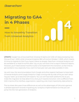 Migrating to GA4 in Four Phases