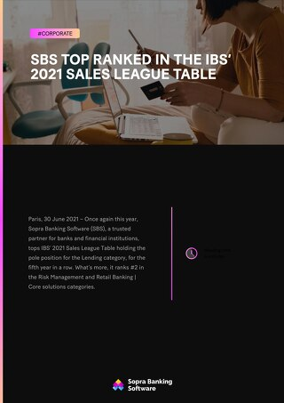 SBS top ranked in the IBS' 2021 Sales League Table