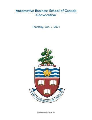 Automotive Business School of Canada Convocation Oct 2021
