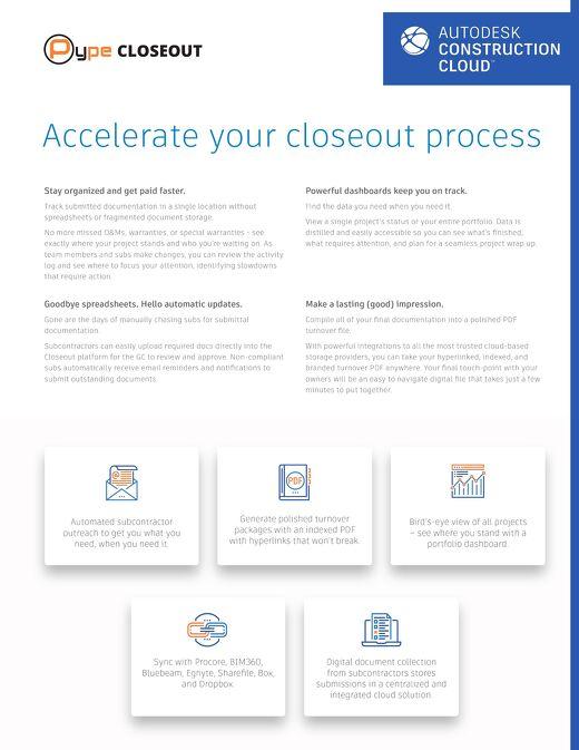 Closeout Infosheet