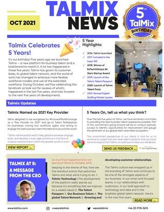 Talmix Newsletter (Oct 21)