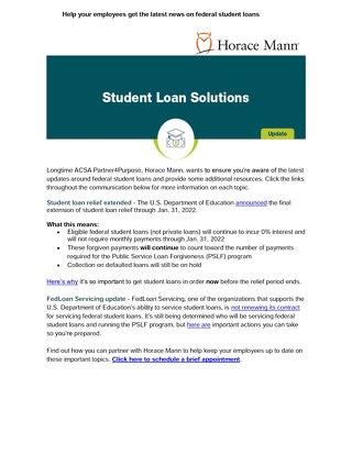 Latest Student Loan News
