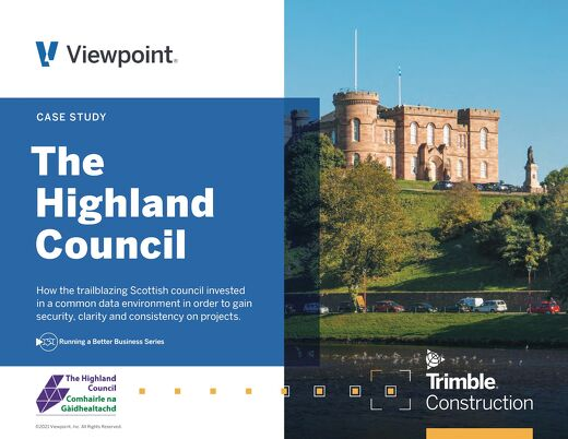Highland Council Finds its Common Data Environment with Trimble Viewpoint