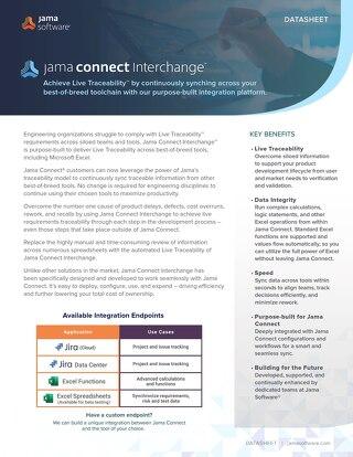 Jama Connect Interchange™ Datasheet