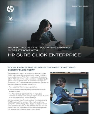 HP-Protecting Against Social Engineering CyberAttacks with HP Sure Click Enterprise-Solution Brief