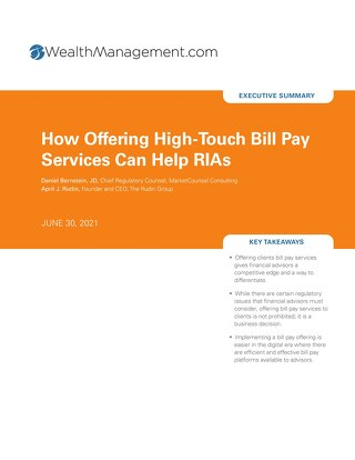 How High-Touch Bill Pay Services Can Help RIAs