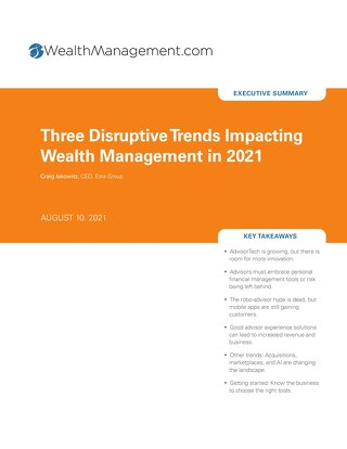 3 Disruptive Trends Impacting Wealth Management in 2021