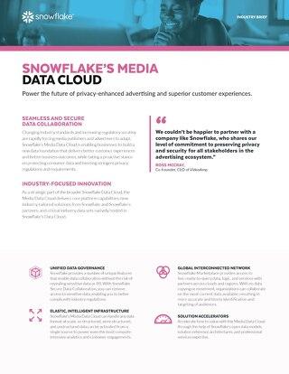 Snowflake's Media Data Cloud