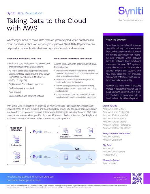 Taking Data to the Cloud with AWS