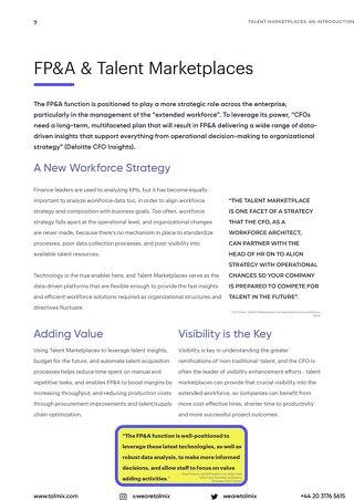 Finance Teams & Talent Marketplaces