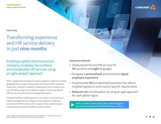 Transforming experience and HR service delivery in just nine months