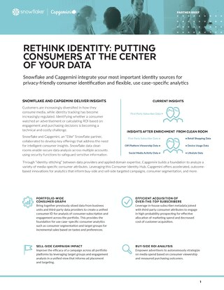 Rethink Identity: Putting Consumers At The Center of Your Data - Capgemini