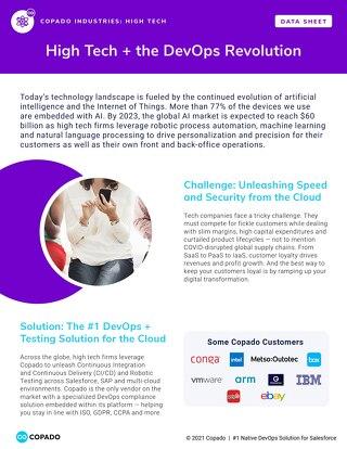 High Tech + the DevOps Revolution