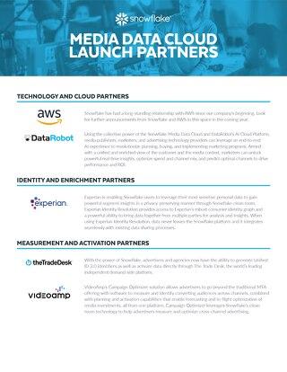 Media Data Cloud Launch Partners