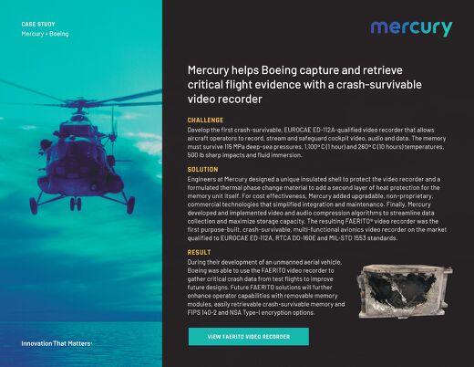 Case Study: Boeing retrieves UAV flight data with a crash-survivable video recorder