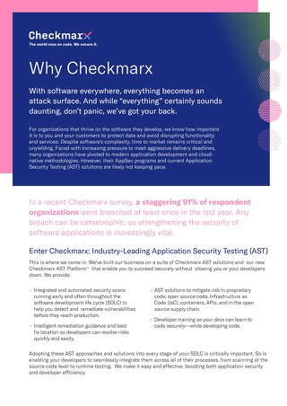 Why Checkmarx - Public Sector 2021