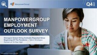 ManpowerGroup Employment Outlook Q4 2021