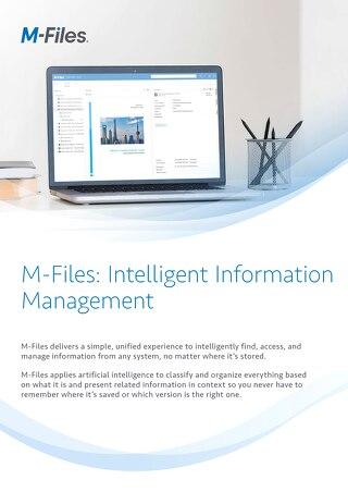 M-Files: Intelligent Information Management
